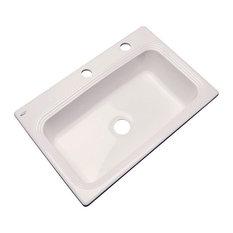 Clemente 2-Hole Kitchen Sink, Almond