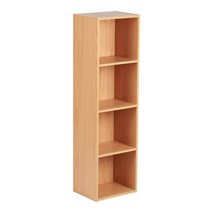 Modern Modular Storage Cube Unit, Beech Finished MDF With Compartments