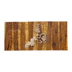 Silence Acacia Wall Plaque, Natural, 95x45 cm