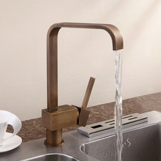 - Relia Single Lever Antique Brass Kitchen Sink Mixer Tap - Kitchen Mixers