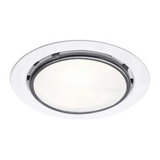 WAC Lighting Round Halogen Button Light, White