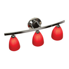 Bathroom Vanity Lights Red transitional bathroom vanity lights with a red shade   houzz
