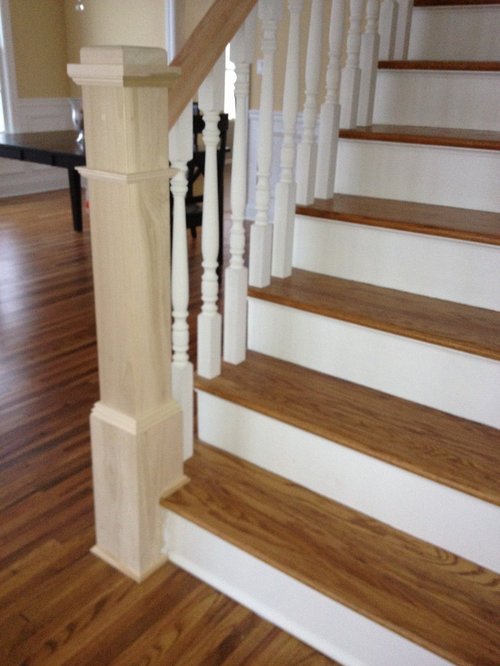 Help Handrail And Newel Stain Color Advice Please