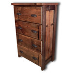 Vienna Industries LLC - Barnwood Dresser 4-Drawer Chest - This dresser is made from authentic reclaimed douglas fir and heart pine barn wood.