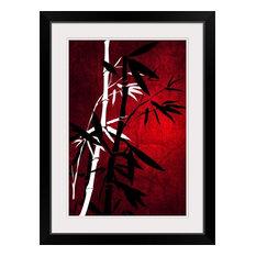 """Bamboo Style"" Black Framed Art Print, 24""x32""x1"""