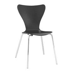 Ernie Dining Side Chair, Black