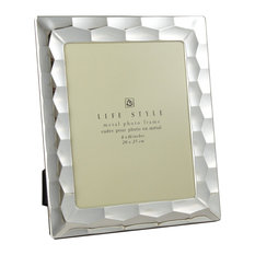 "Elegance Silverplated Crystal Frame, 8""x10"", Prism"