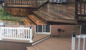 Semi- transparent Deck Stain with accent verticles