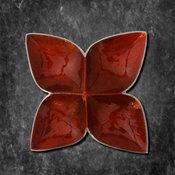 Buy Online Serving Platter - Lotus (Red)