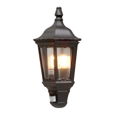 Firenze Outdoor Motion Sensor Wall Light, Matte Black