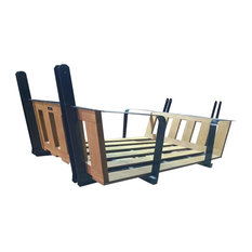 Manhattan Twin Swingbed, Painted Black, Cypress Wood, Frame Only