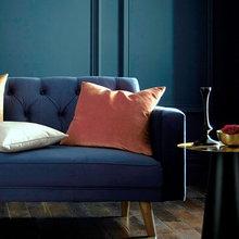 Blue and Orange Interiors