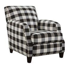 Hollis Black And White Plaid Chair