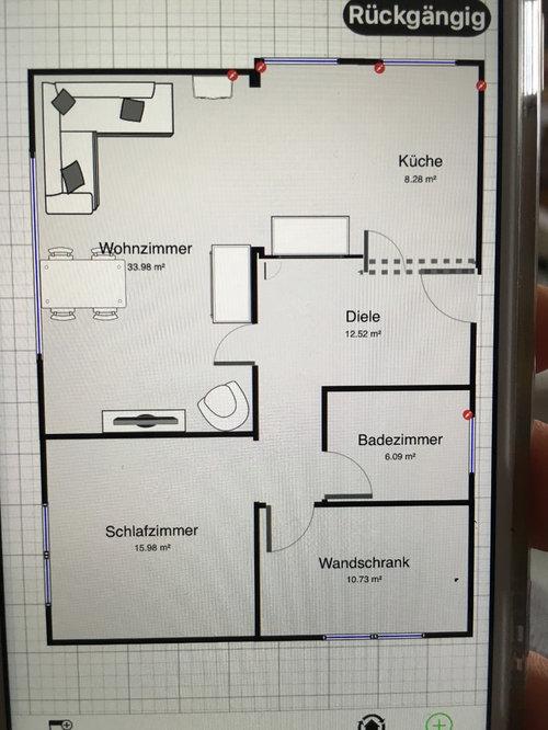 esszimmertische: Wohnzimmer Esszimmer Kuche In Einem Raum