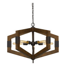 Varna Chandelier, Wood, 5