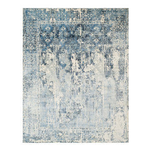 Studio Seven Hand Loomed Area Rug, MIR551B, Ivory/Blue,  8' X 10'