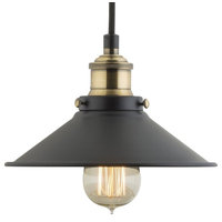 Andante Industrial Factory Pendant, Antique Brass