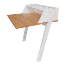 Children's Solid Oak Desk, White