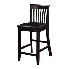 Torino Collection Craftsman Counter Stool 17.25W X 19.5D X 37H Black