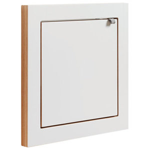 Fläpps Birch Plywood Vanity Mirror, White