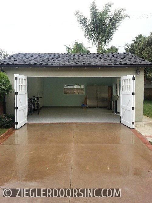 carriage garage door in a bi fold configuration east side costa mesa home office garage bi fold doors home office