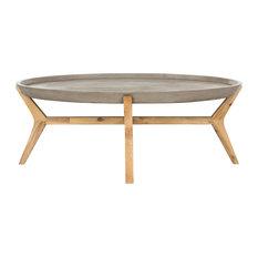 "Safavieh - Safavieh Hadwin Modern Concrete Oval 31.5"" Dia Coffee Table - Coffee Tables"