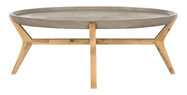 hadwin concrete coffee table - midcentury - coffee tables -