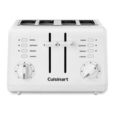 White Compact Plastic Toaster, 4-Slice