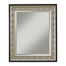 Monaco Wall Mirror, Antique Silver