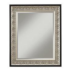 Martin Svensson Home - Monaco Wall Mirror, Antique Silver - Bathroom Mirrors