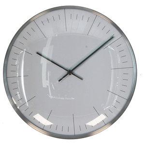 Metal Wall Clock, Silver Finish