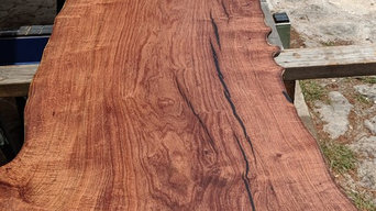 Custom Live Edge Mesquite Countertop for Bordeaux Luxury Homes