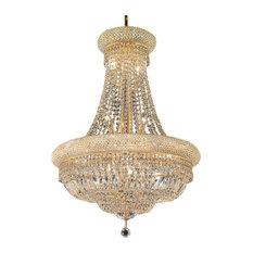 Stairway chandeliers houzz we got lites bagel design 14 light 24 gold chandelier with clear swarovski crystals aloadofball Gallery