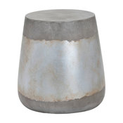 Aries Side Table, Concrete, Silver