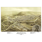 "Ted's Vintage Art - Old Map of Jermyn Pennsylvania 1889, Vintage Map Art Print, 18""x24"" - Old Map of Jermyn, Pennsylvania - 1889"