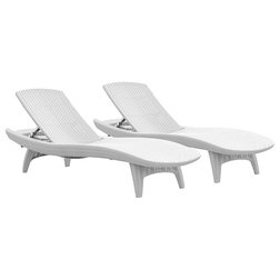 Tropical Outdoor Chaise Lounges By Keter
