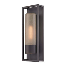 Cylinder Wall Sconce, Bronze