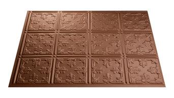 """18""""x24"""" Fasade Traditional 10 Backsplash Panel, Argent Copper"""