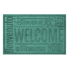 2'x3' Worldwide Welcome Doormat, Aquamarine