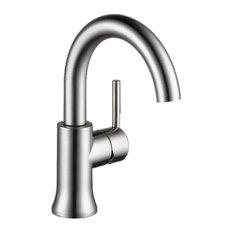Delta Trinsic Single Handle High-Arc Lavatory Faucet, Matte Black