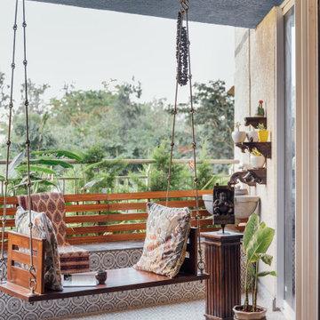 Indian Rustic home @Brigade Exotica