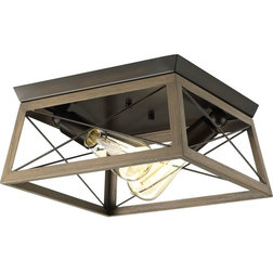 Industrial Flush-mount Ceiling Lighting by Lighting New York