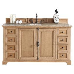 Beautiful Rustic Bathroom Vanities And Sink Consoles Providence Natural Oak Single Vanity With Beige Rust
