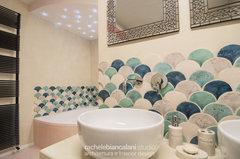 Rivestimento Bagno Verde Mela : Idee per rivestire il bagno con piastrelle verde smeraldo