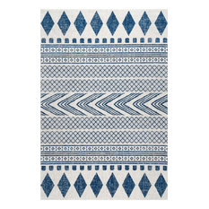 Southwestern Tribal Bands, Blue, 9'x12'
