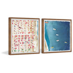 """Marmont Hill Inc. - Packed Beach III Diptych, 64""""x32"""" - (2) panels of 32x32"""