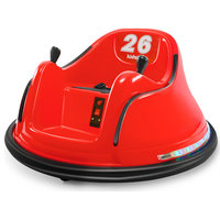 Race #00-99 6V Kids Toy Electric Ride On Bumper Car ASTM-certified, Red