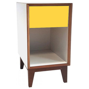 Pix Large Scandinavian Bedside Table, Yellow
