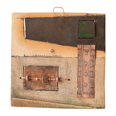 """Harvey Handmade Clay And Copper Decorative Tile, 4"""""""