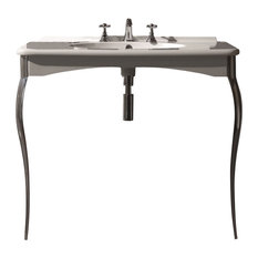 WS Bath Collections Retro Wall Mount Sink with Legs with One Faucet Hole